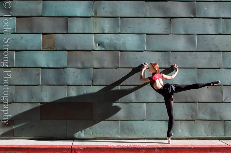 Arabesque at the Wall-  Photo: Todd Strong Photography