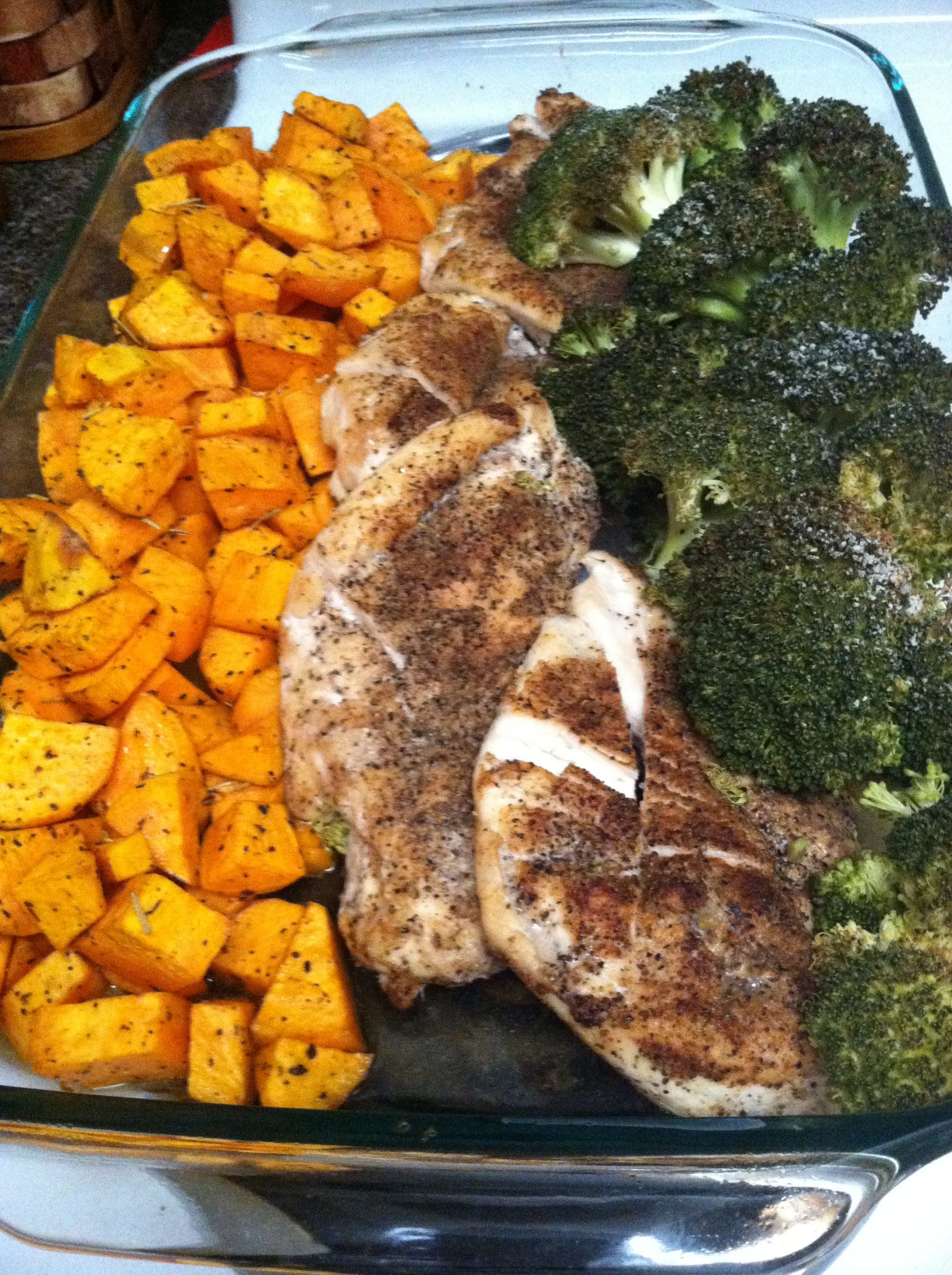 One Pan Chicken And Potatoes And Broccoli-6687